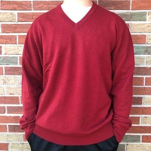 ❤️ Brooks Brothers 3-Ply Cashmere V-neck Sweater